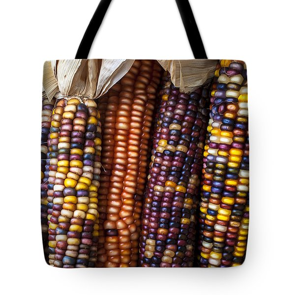 Indian Corn Close Up Tote Bag by Garry Gay