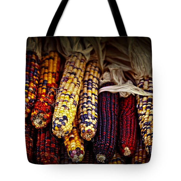 Indian Corn Tote Bag by Elena Elisseeva