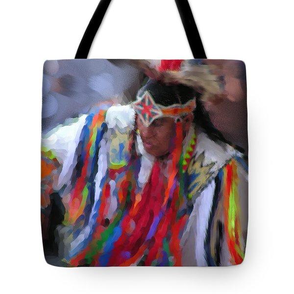 Da121 Indian Dance By Daniel Adams Tote Bag