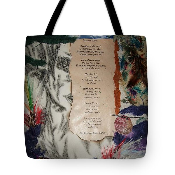 Indian Dancer Tote Bag