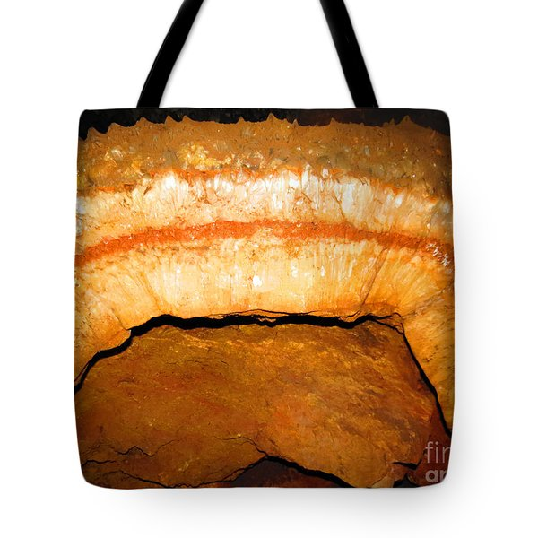Indian Headdress. Sitting Bull Crystal Caverns Tote Bag by Ausra Huntington nee Paulauskaite