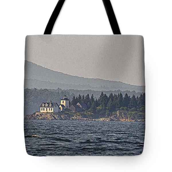 Tote Bag featuring the photograph Indian Island Lighthouse - Rockport - Maine by Marty Saccone