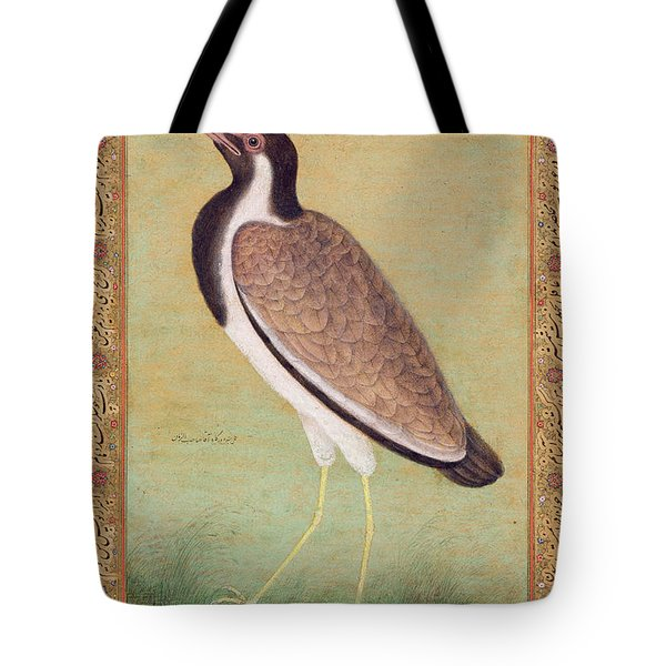 Indian Lapwing Tote Bag by Mansur