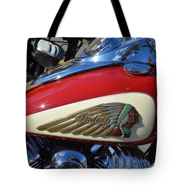 Indian Motorcycle Gas Tank Tote Bag