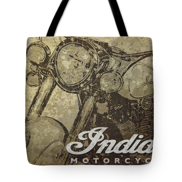 Indian Motorcycle Poster Tote Bag