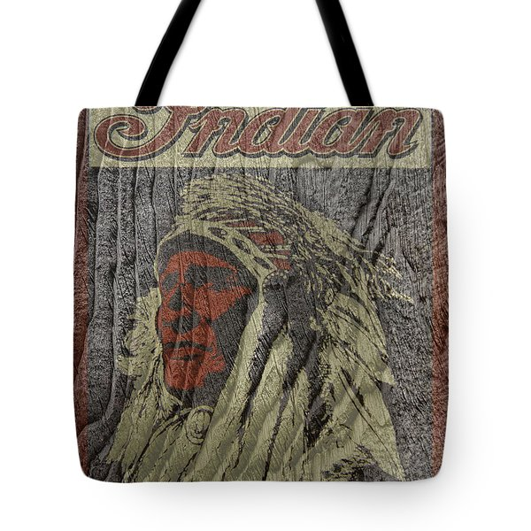 Indian Motorcycle Postertextured Tote Bag