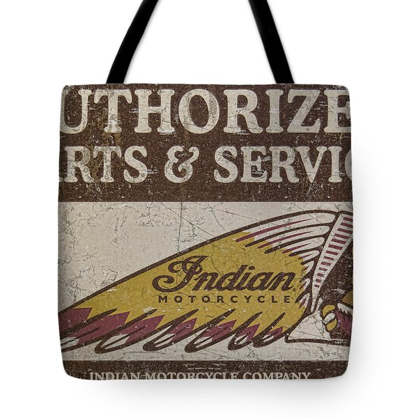 Indian Motorcycle Sign Tote Bag