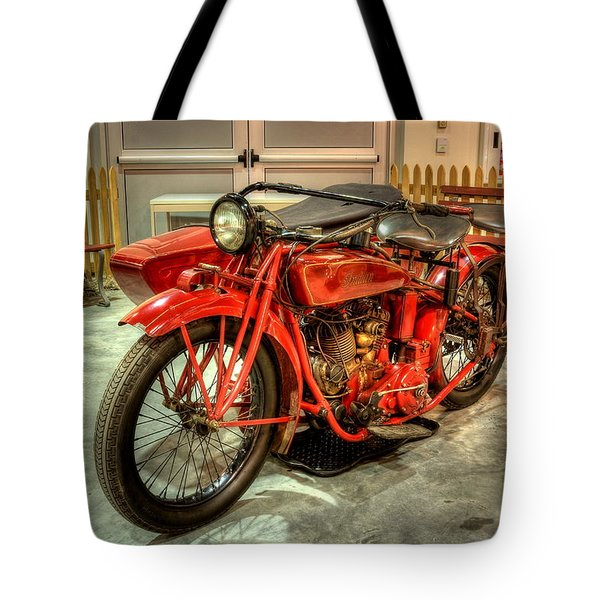 Indian Motorcycle With Sidecar Tote Bag