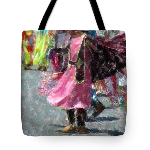 Indian Princess Dancer Tote Bag by Kathleen Struckle