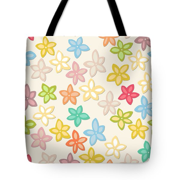 Indian Summer Flowers Tote Bag