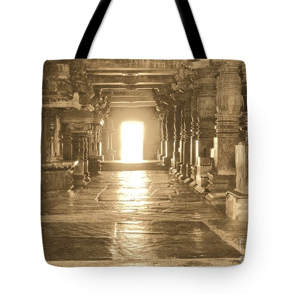 Tote Bag featuring the photograph Indian Temple by Mini Arora