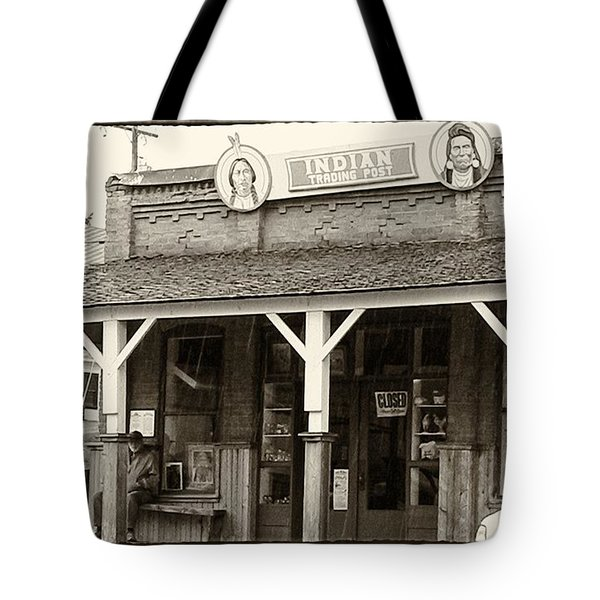 Indian Trading Post Virginia City Montana 02 Tote Bag by Thomas Woolworth
