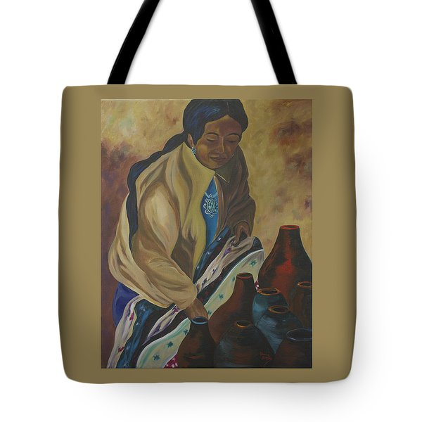 Indian Woman Potter Tote Bag