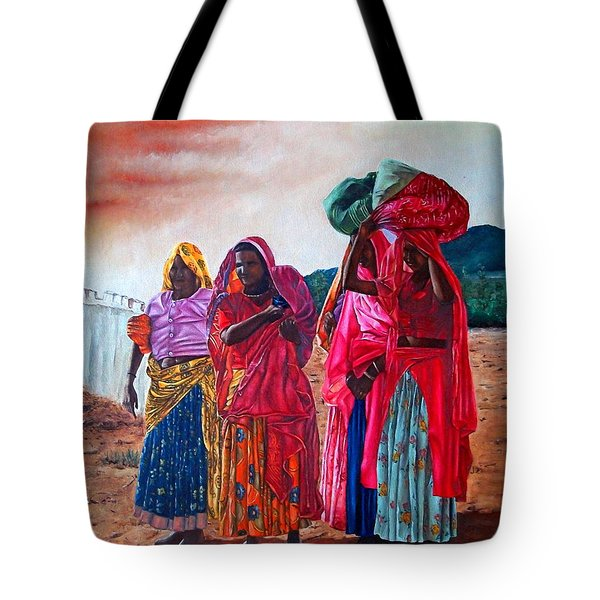 Indian Women Tote Bag