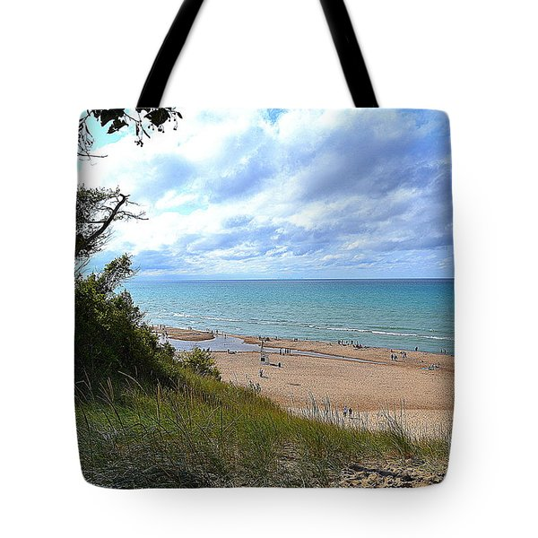 Indiana Dunes Beachscape Tote Bag