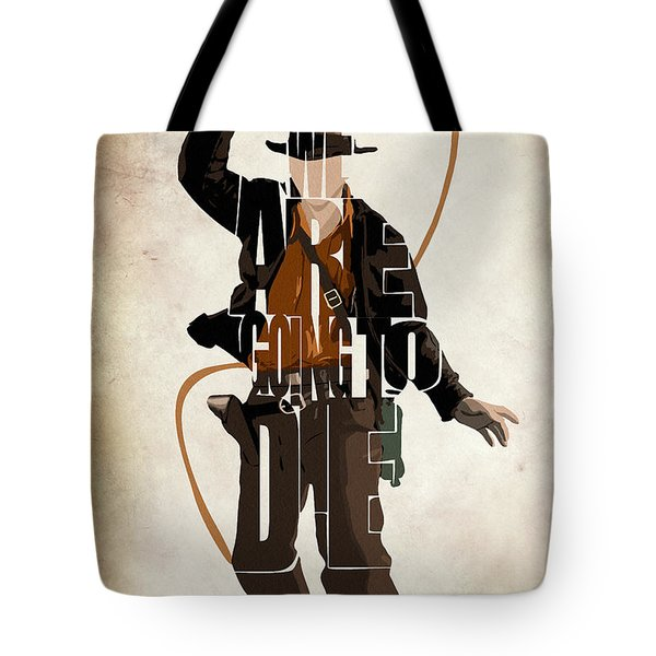 Indiana Jones Vol 2 - Harrison Ford Tote Bag by Ayse and Deniz