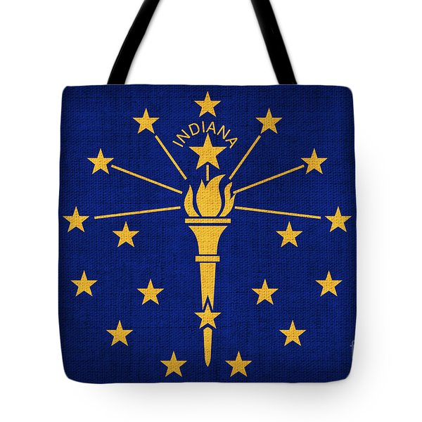 Indiana State Flag Tote Bag by Pixel Chimp
