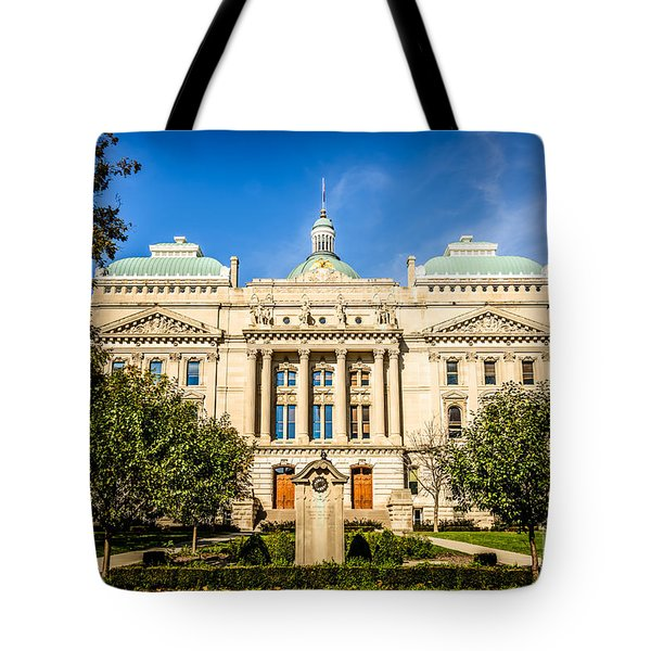 Indiana Statehouse State Capital Building Picture Tote Bag by Paul Velgos