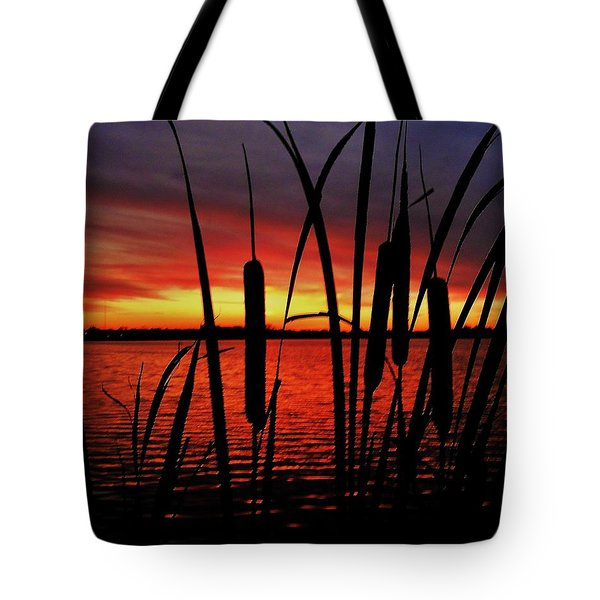 Indiana Sunset Tote Bag by Benjamin Yeager