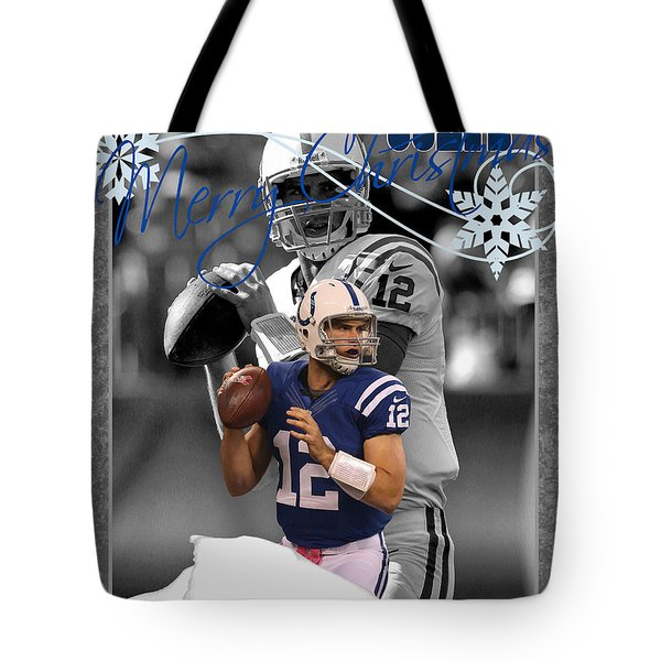 Indianapolis Colts Christmas Card Tote Bag