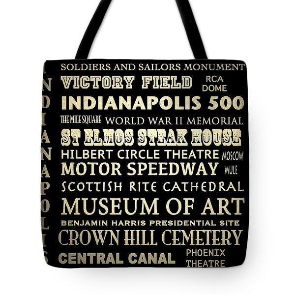 Indianapolis Famous Landmarks Tote Bag