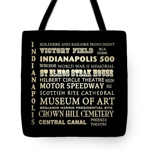 Indianapolis Famous Landmarks Tote Bag