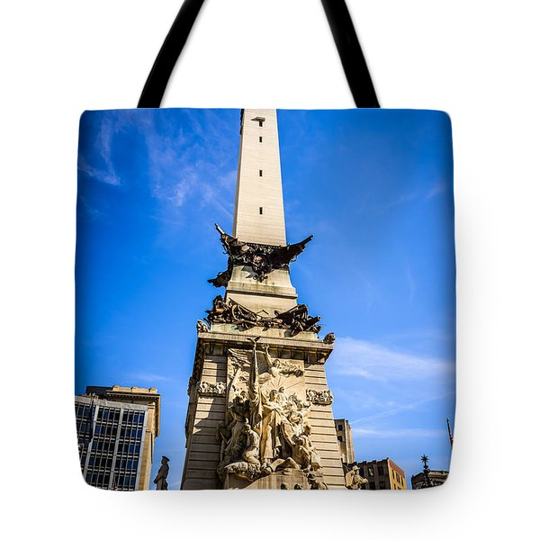 Indianapolis Indiana Soldiers And Sailors Monument Picture Tote Bag by Paul Velgos