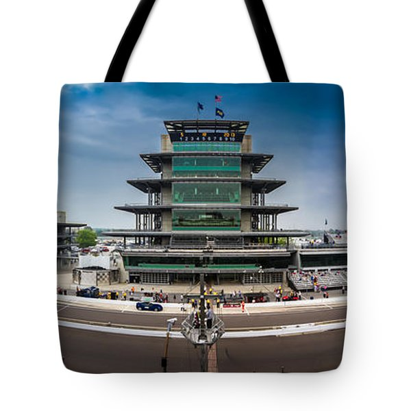 Tote Bag featuring the photograph Indianapolis Motor Speedway by Ron Pate