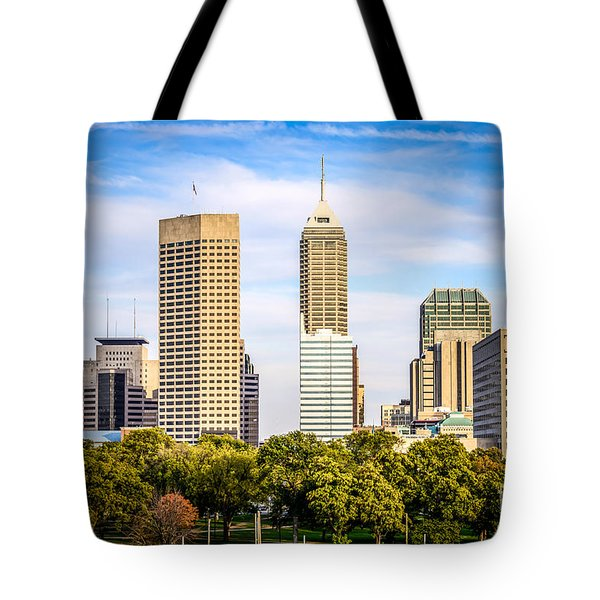 Indianapolis Skyline Picture Tote Bag by Paul Velgos