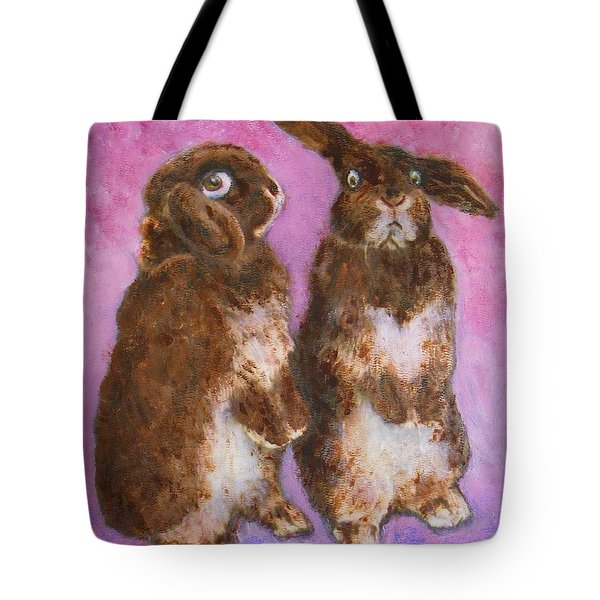 Indignant Bunny And Friend Tote Bag
