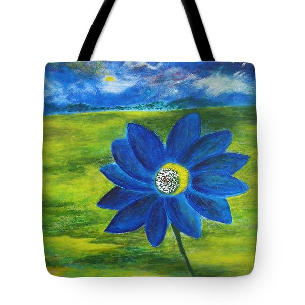 Indigo Blue - Sunflower Tote Bag