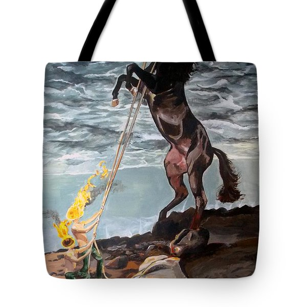 Indomitable Listen With Music Of The Description Box Tote Bag