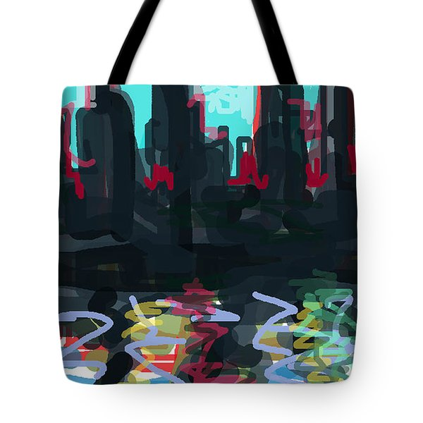 Industrial City On A River  Tote Bag by Paul Sutcliffe