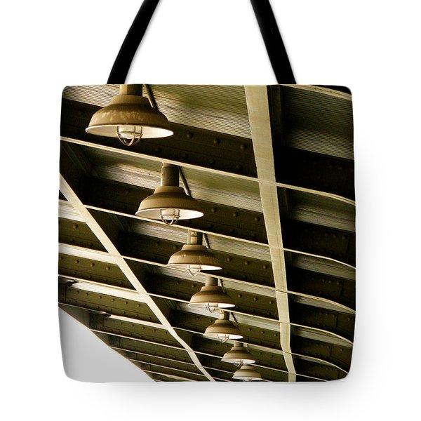 Industrial Lights Tote Bag by Randi Kuhne