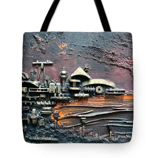 Industrial Port-part 1 By Rafi Talby Tote Bag by Rafi Talby