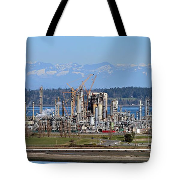 Industrial Refinery Tote Bag