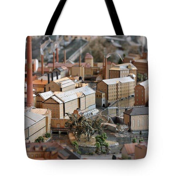 Industrial Town Miniature Model Tote Bag
