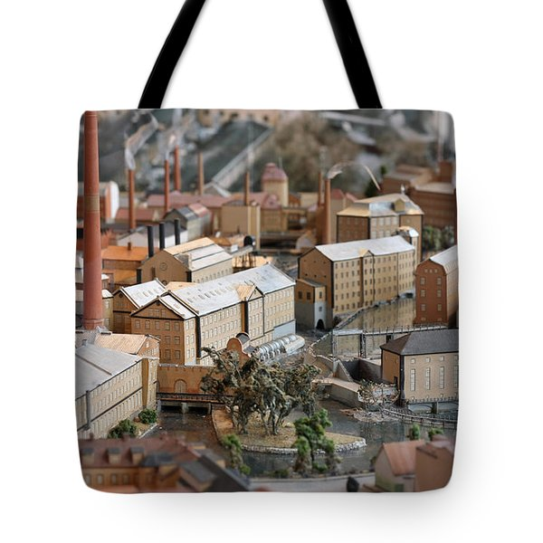 Industrial Town Miniature Model Tote Bag
