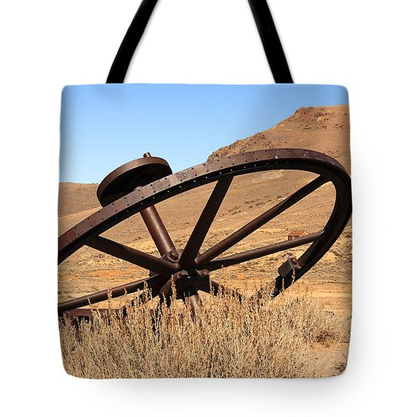 Industrial Wheel Tote Bag