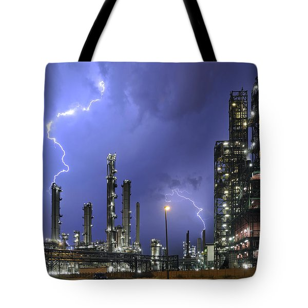 Tote Bag featuring the photograph Lightning by Arterra Picture Library