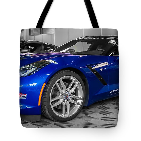 Indy 500 Corvette Pace Car Tote Bag