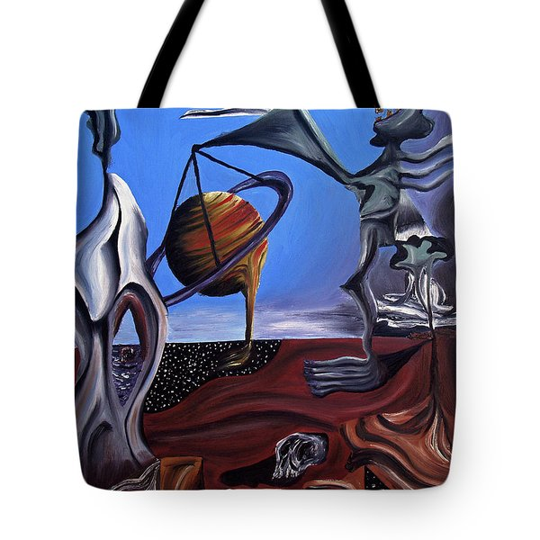 Tote Bag featuring the painting Infatuasilaphrene by Ryan Demaree