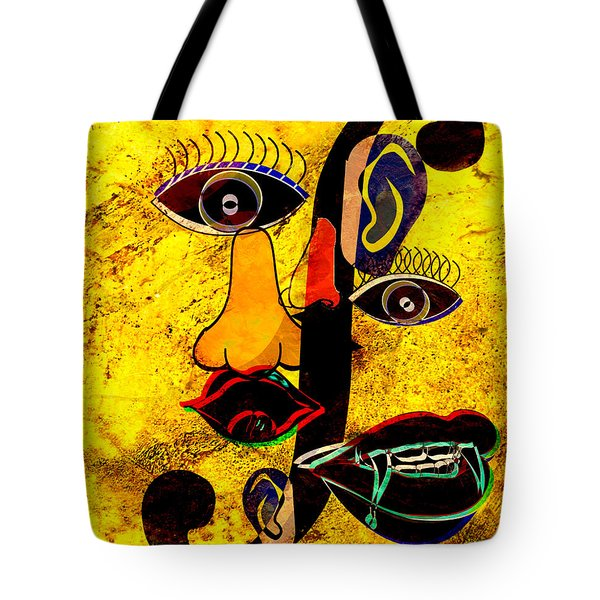 Infected Picasso Tote Bag by Ally  White
