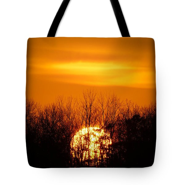 Inferno In The Trees Tote Bag