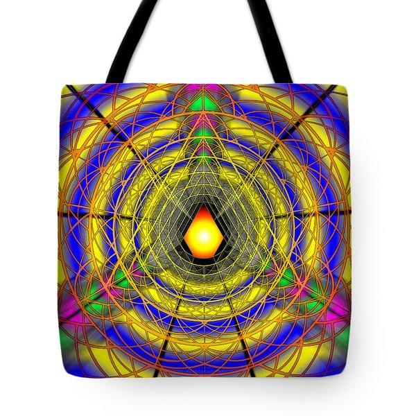 Tote Bag featuring the drawing Infinity Gateway Nine by Derek Gedney