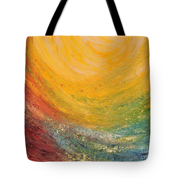 Tote Bag featuring the painting Infinity by Teresa Wegrzyn