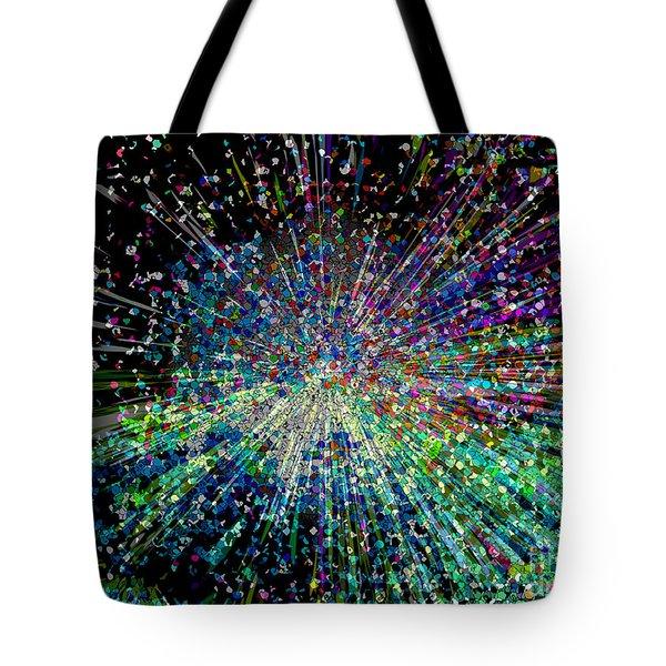 Information Explosion Tote Bag by Mariarosa Rockefeller