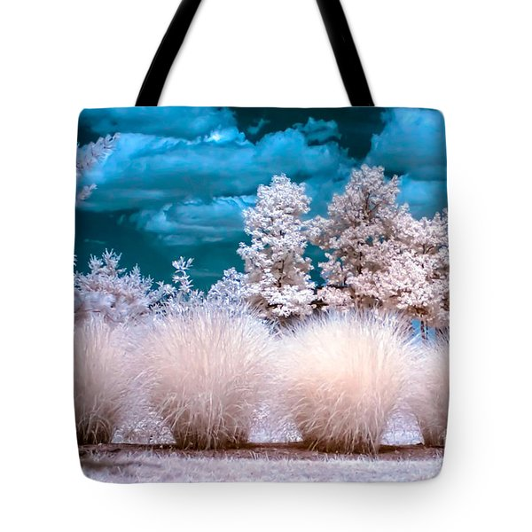 Infrared Bushes Tote Bag