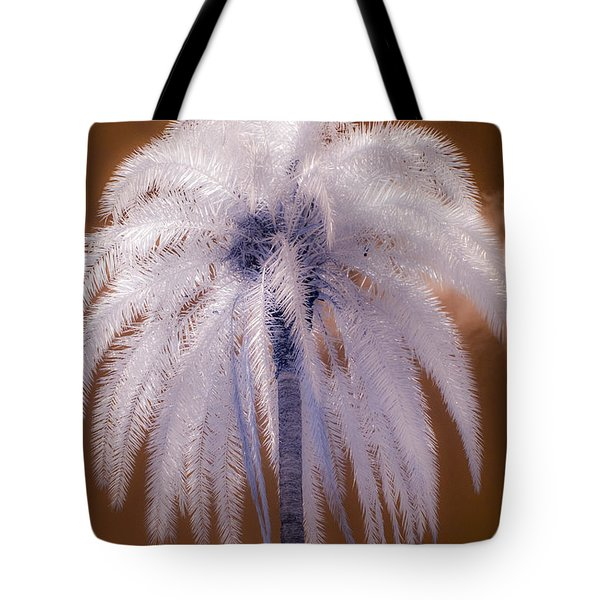 Infrared Palm Tree Tote Bag