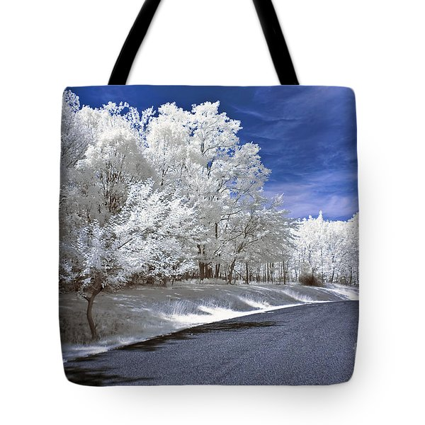 Infrared Road Tote Bag